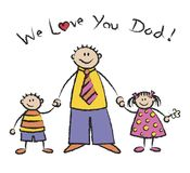 We Love U Dad light skin tone Royalty Free Stock Photos