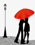 Love and umbrella Royalty Free Stock Images