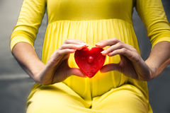 Love for the unborn baby Stock Photography