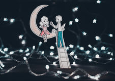 Love under the stars Royalty Free Stock Photography