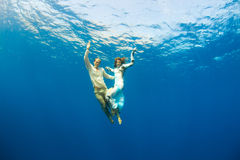 Love underwater Stock Photo