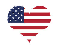 Love The USA. Heart Shape With US Flag Royalty Free Illustration