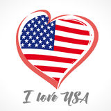 Love USA, America emblem colored Royalty Free Stock Photo