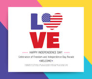 Love USA, America. Happy Independence Day Stock Photo