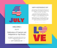 Love USA, America. Happy Independence Day Stock Image