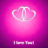 Love and Valentine card concept. Valentine card background concept on a pink background Royalty Free Stock Photos