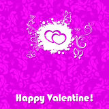 Love and Valentine card concept. Valentine card background concept on a pink background Stock Photos