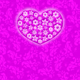 Love and Valentine card concept. Valentine card background concept on a pink background Stock Images