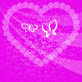 Love and Valentine card concept. Valentine card background concept on a pink background Royalty Free Stock Photo