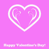 Love and Valentine card concept. Valentine card background concept on a pink background Stock Image