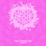 Love and Valentine card concept. Valentine card background concept on a pink background Royalty Free Stock Image