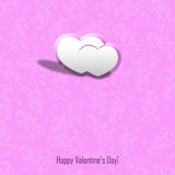 Love and Valentine card concept. Valentine card background concept on a pink background Royalty Free Stock Photography
