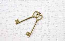 Love, valentine concept  key jigsaw Stock Photography