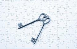 Love, valentine concept  key jigsaw Royalty Free Stock Photography