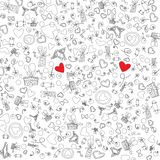 Love Valentine Day doodle icons vector illustration Royalty Free Stock Image
