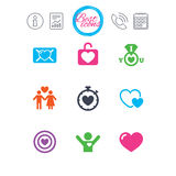 Love, valentine day icons. Target with heart. Stock Images