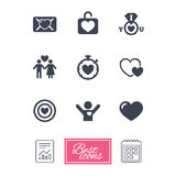 Love, valentine day icons. Target with heart. Stock Photography