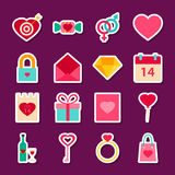 Love Valentine Day Stickers Royalty Free Stock Image