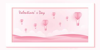 Love and valentine day on sweet pink background vector illustration