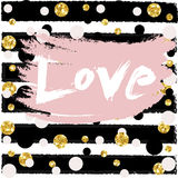 Love Valentine day, wedding design card, wallpaper, wrapping, textile Vector Illustration Royalty Free Stock Image