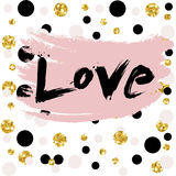 Love Valentine day, wedding design card, wallpaper, wrapping, textile Vector Illustration Royalty Free Stock Photo