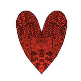 Love, valentine heart, sketch for your design Royalty Free Stock Images