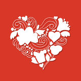 Love, valentine heart, sketch for your design Royalty Free Stock Image