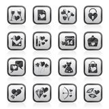 Love and Valentine Holidays icons Stock Photography