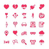 Love and valentine icon set. /16 vector for design Royalty Free Stock Photography