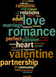 Love valentine info-text word clouds Stock Images