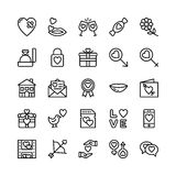Love and Valentine Line Vector Icons 11 Stock Photo