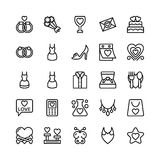Love and Valentine Line Vector Icons 14 Royalty Free Stock Photos