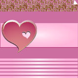 Love-valentine. Pink background for greetings on love Royalty Free Stock Photos