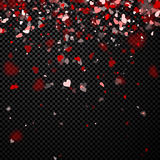Love valentine`s background with hearts. Stock Photography