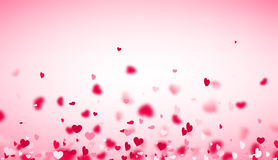 Love valentine`s background with hearts. Royalty Free Stock Image