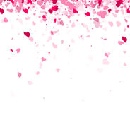 Love valentine`s background with hearts. Love valentine`s background with pink hearts. Vector illustration Royalty Free Stock Photos