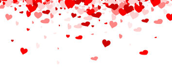 Love valentine`s background with hearts. Love valentine`s background with red and pink hearts. Vector illustration Royalty Free Stock Photos