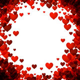 Love valentine`s background with hearts. Love valentine`s background with red hearts. Vector illustration Stock Images