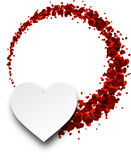 Love valentine`s background with hearts. Vector paper illustration Stock Photos