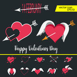 Love, Valentine`s day, dating, romance and more, thin line icons set,  illustration. Vector illustration - valentine`s day icon set. Love, Valentine`s day Royalty Free Stock Images