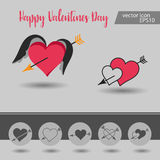 Love, Valentine`s day, dating, romance and more, thin line icons set,  illustration. Vector illustration - valentine`s day icon set. Love, Valentine`s day Stock Image