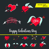 Love, Valentine`s day, dating, romance and more, thin line icons set,  illustration. Vector illustration - valentine`s day icon set. Love, Valentine`s day Stock Photography