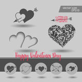Love, Valentine`s day, dating, romance and more, thin line icons set,  illustration. Vector illustration - valentine`s day icon set. Love, Valentine`s day Stock Images