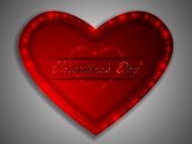 Love. Valentine`s Day. Declaration of love. Love. Valentine`s Day. Color glowing heart. Declaration of love Stock Photography