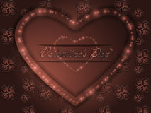 Love. Valentine`s Day. Declaration of love. Love. Valentine`s Day. Color glowing heart. Declaration of love Royalty Free Stock Images