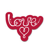 Love. Valentine`s day greeting card. Stock Image