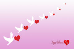 Love, valentine. `s day, heart, pink background Royalty Free Stock Image