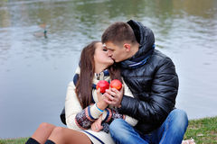 Love Valentine's Day kiss Royalty Free Stock Photography