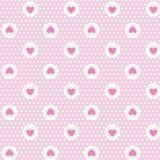 Love valentine's day seamless pattern Stock Image
