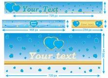 Love / Valentine's Day web banner set. Royalty Free Stock Photo